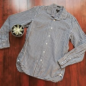 J. Crew Ludlow Slim-fit Collar Shirt Navy Gingham